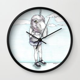 Keep Your Head in the Clouds Wall Clock