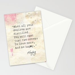 Persian poet Hafez  Stationery Cards
