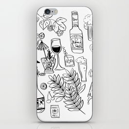 Alcohol Doodles iPhone Skin