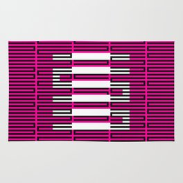 Licorice Bytes, No.3 in Black and Pink Rug
