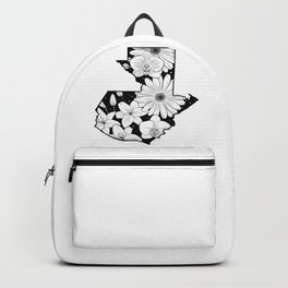 Map of Guatemala with flowers and stars Backpack