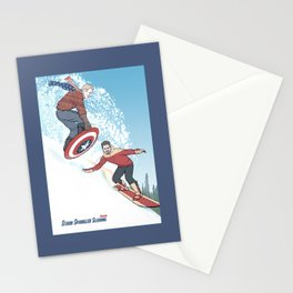 Stark Spangled Sledding (Recipe for a Concussion) Stationery Cards