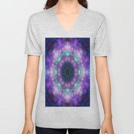 Trippy Purple Deep Space Mandala Unisex V-Neck