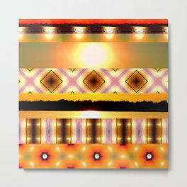 Yellow sunset glare with pattern design Metal Print