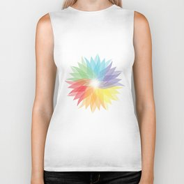colorful lady Biker Tank