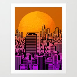 Cityscape collage 01B Art Print