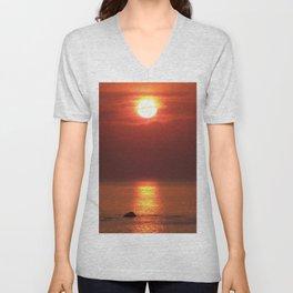 Halo Sunset Glow Unisex V-Neck