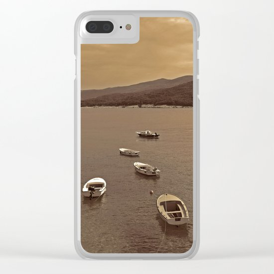 Small Boats Clear iPhone Case