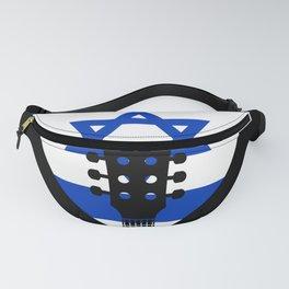 Israel Flag Guitar Plectrum Fanny Pack