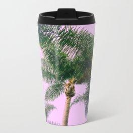 pink palm Metal Travel Mug