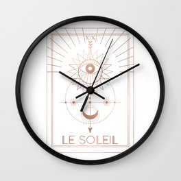 Le Soleil or The Sun Tarot White Edition Wall Clock