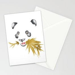 Panda Bear & Bamboo - Gold Bamboo Stationery Cards