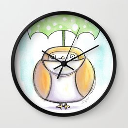 Optimist Owl  Wall Clock