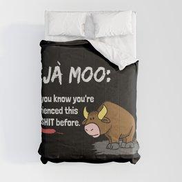 Deja Moo Dark Comforters