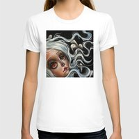 surrealism T-shirts featuring White Spirits :: Pop Surrealism Painting by Kristin Frenzel