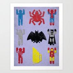 Super Heroic Minimalism Remix Art Print