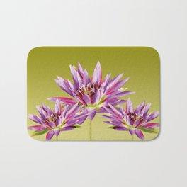 Lotos Flowers violet Bath Mat