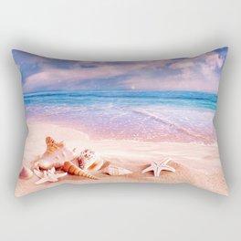 On the beach Rectangular Pillow