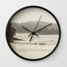 Deer Island at Low Tide Wall Clock