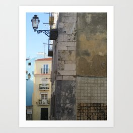 Bom dia Lisboa Art Print