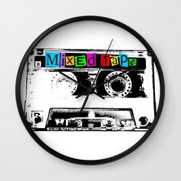 Mixed Tape Cassette Wall Clock