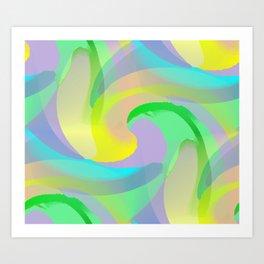 Soft Rainbow Abstract - Painterly Art Print
