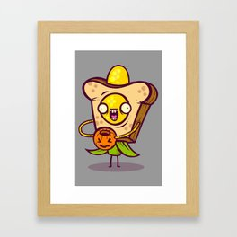 Corny Bread Framed Art Print