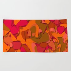 red camouflage Beach Towel