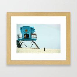 21 Framed Art Print