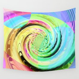 Re-Created Twisters No. 8 by Robert S. Lee Wall Tapestry
