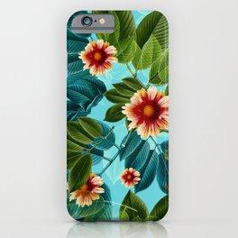 Tropical flowers Hawaii iPhone Case