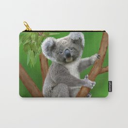 Blue-eyed Baby Koala Bear Carry-All Pouch