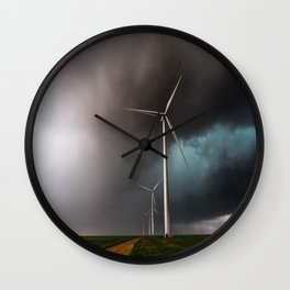 Wind Farm - Renewable Energy on the Texas Plains Wall Clock