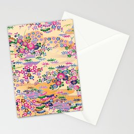SUMI WITH PINK FLOWERS Stationery Cards
