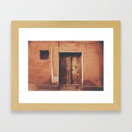 Abyaneh Door #4 (from the series 'Iranian Doors') Framed Art Print
