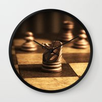 chess Wall Clocks featuring Chess by Janelle