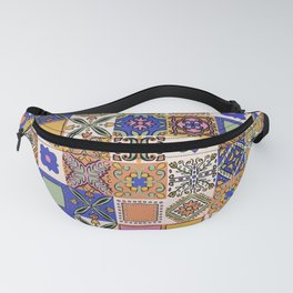 Hand Drawn Floral Patchwork Fanny Pack