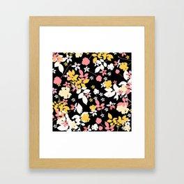 yellow leaves Framed Art Print