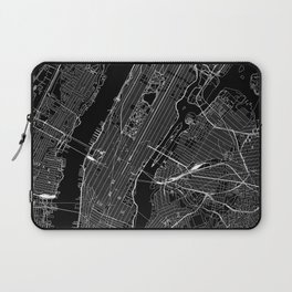 New York City Black Map Laptop Sleeve