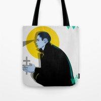 vampire Tote Bags featuring Vampire by Musya