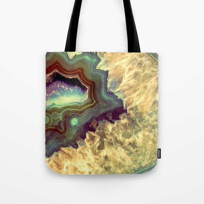 Colorful Earth Tones Quartz Crystal Tote Bag