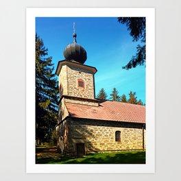 Maria Rast forest chapel 3 Art Print