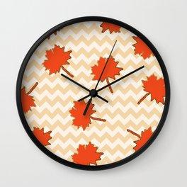 Crisp falling leaves Wall Clock