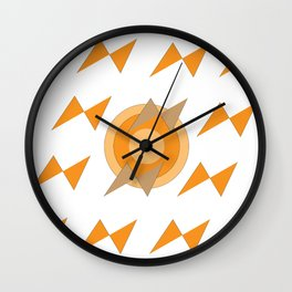 Geometric bats under the sun Wall Clock