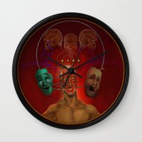 cycling Wall Clocks featuring Rapid Cycling by The Art of Chris Johnson