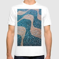 Color at the ground MEDIUM Mens Fitted Tee White
