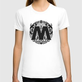 Letter M monogram wildwood T-shirt