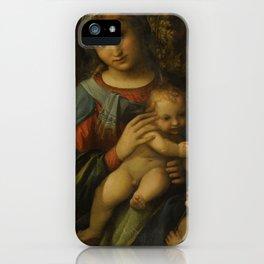 "Antonio Allegri da Correggio ""Madonna and Child with infant Saint John the Baptist"" iPhone Case"