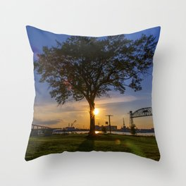 Sunset At Elizabeth River Park Throw Pillow