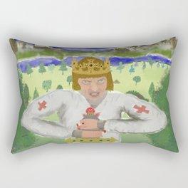 King Arthur Extracts Excalibur Rectangular Pillow